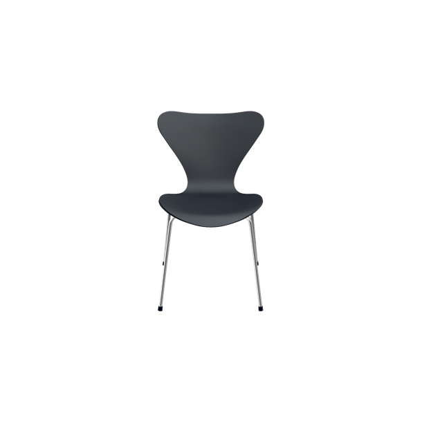 3107, Stol, Sort Lakeret - Arne Jacobsen