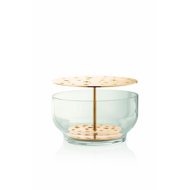 Ikebana vase, stor, massiv messing