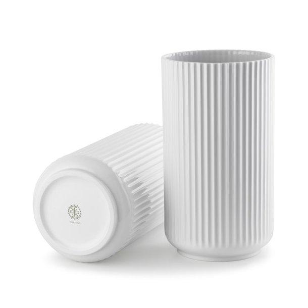 Lyngby vase 25 cm, hvid