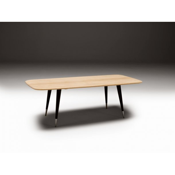 Naver Collection AK 2530 sofabord eg hvidolieret med sorte ben og stål fod