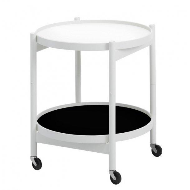 Krüger bakkebord Ø50 Hvid bøg/Hvid/Sort Design: Hans Bølling