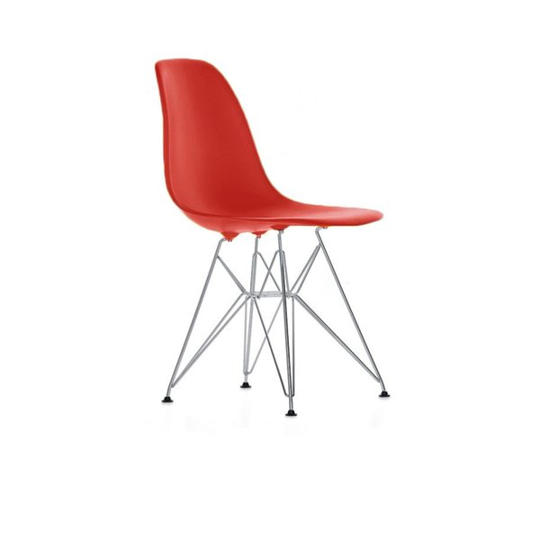 Eames DSR stol Classic Red/Rød