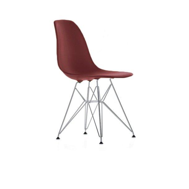 Eames DSR stol Oxide Red/Mørkerød