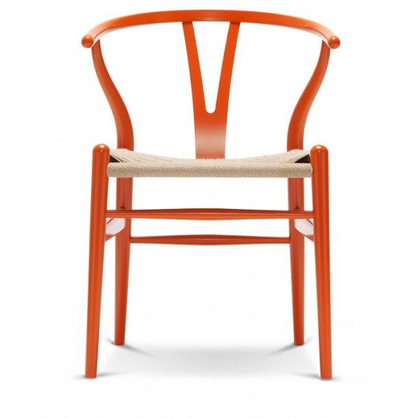 Y-stol CH24 orange red natur flet