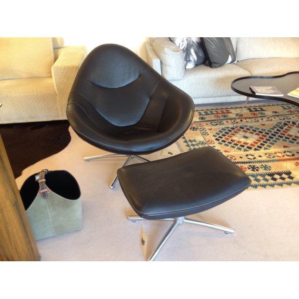 Label Hidde stol med skammel