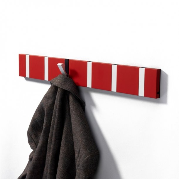 Knax knagerække Rød lakeret