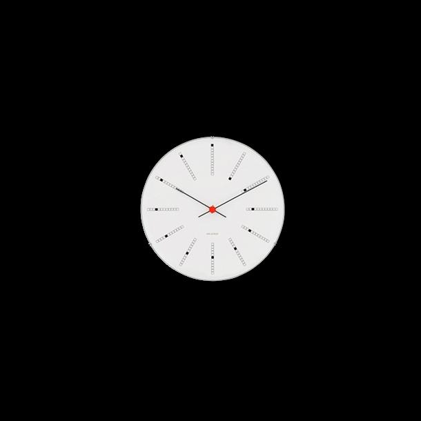 Arne Jacobsen Bankers Vægur Hvid, sort og rød, Ø 16 cm