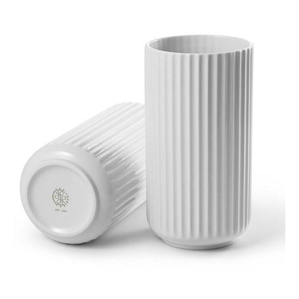 Lyngby vase 20 cm, hvid