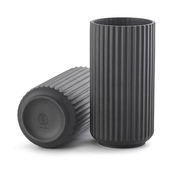 Lyngby vase 20 cm, sort