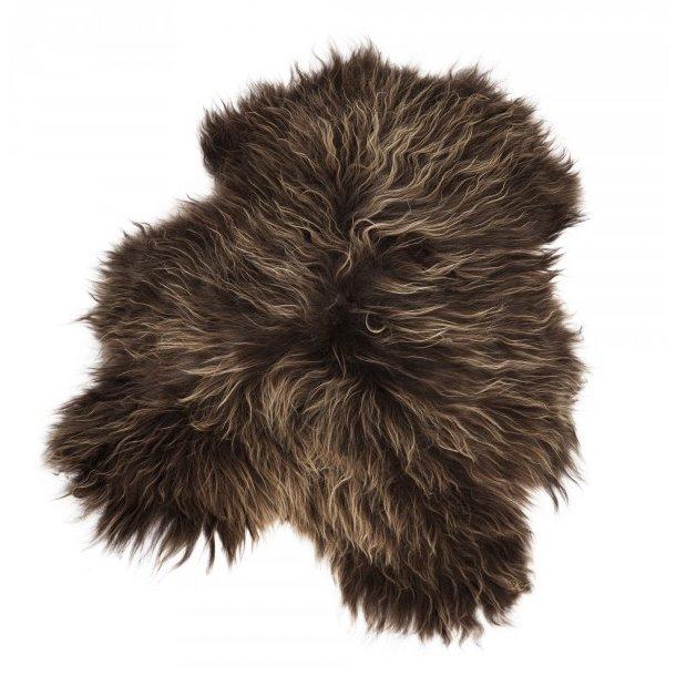Icelantic sheepskin longhair brown
