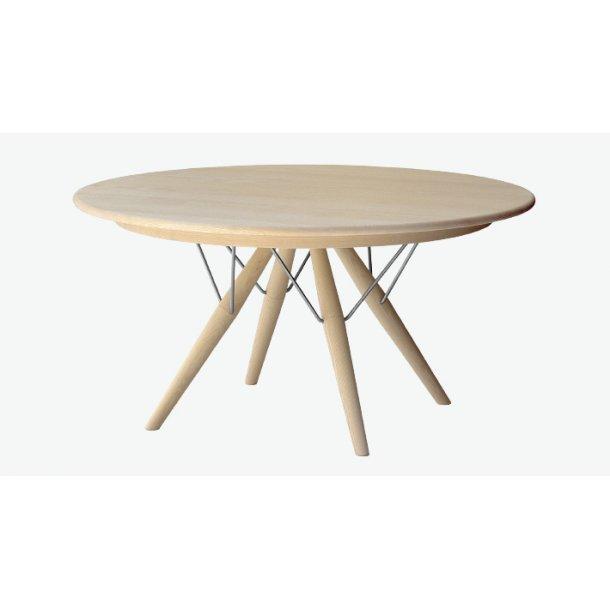 Hans J. Wegner spisebord Ø120 cm model PP75 eg sæbe med 2 plader finér