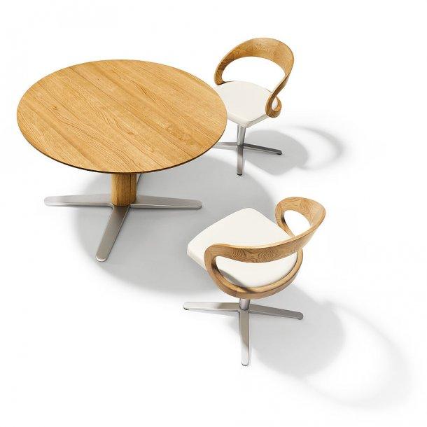 Team 7 - Girado rundt spisebord med foldeplade