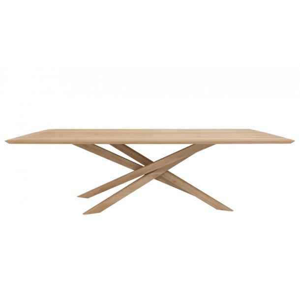 Mikado spisebord 110 x 240 cm i massiv eg