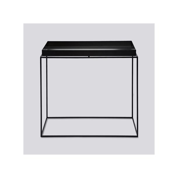 TRAY TABLE / REQTANGULAR L40 X W60 SIDE BLACK