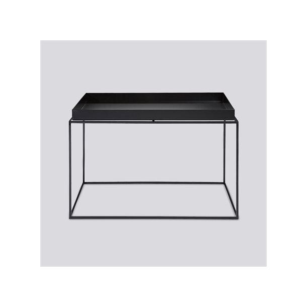 HAY TRAY TABLE / SQUARE L60 X W60 COFFEE BLACK