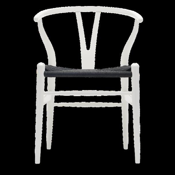 CH24 Y stol | Bøg, Natural white, Sort flet