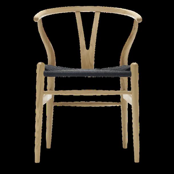 CH24 Y stol | Eg, Lakeret, Sort flet